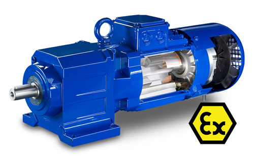 IE4-PM Synchronous Geared Motors for Explosion Hazardous Areas
