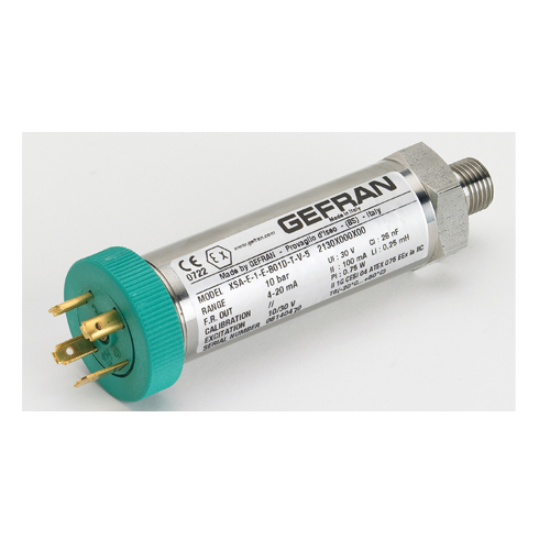 XSA Pressure transmitters for applications in hazardous areas Gefran