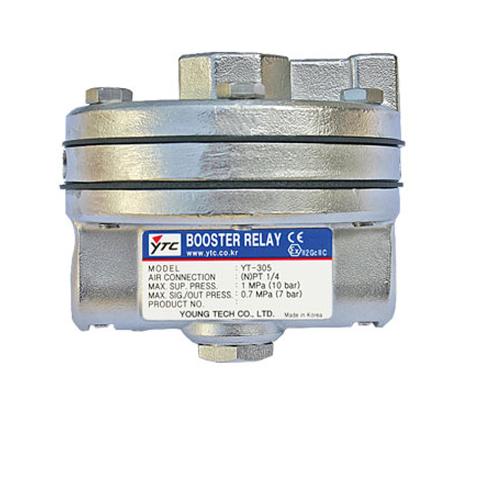 YT-305 Series Pneumatic Volume Booster Relay for Valve Positioner Young Tech Co.,Ltd. (YTC)