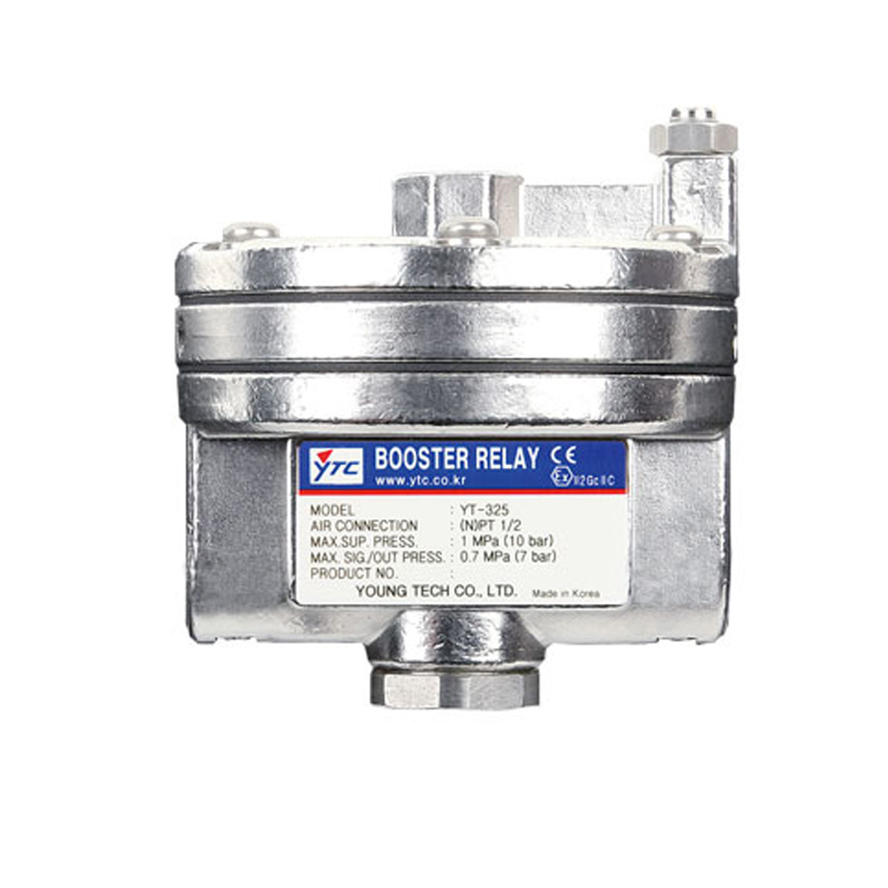 YT-325 Series Pneumatic Volume Booster Relay for Valve Positioner Young Tech Co.,Ltd. (YTC)