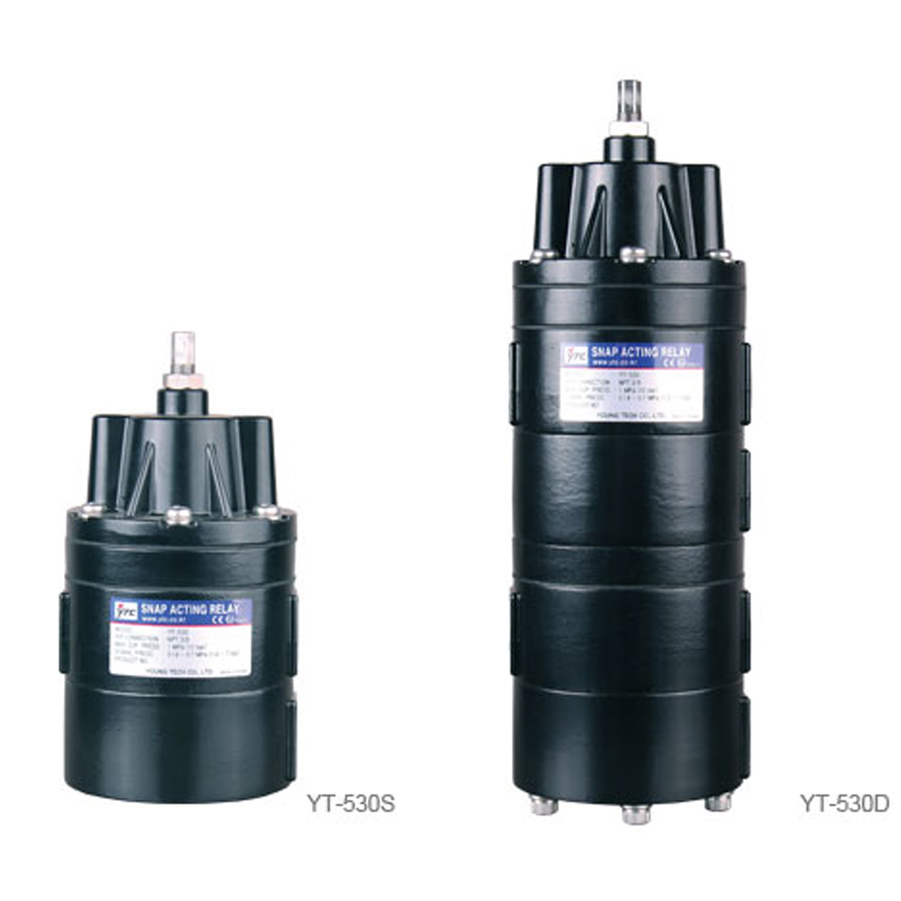 YT-530 Series Snap Acting Pneumatic Relay Young Tech Co.,Ltd. (YTC)
