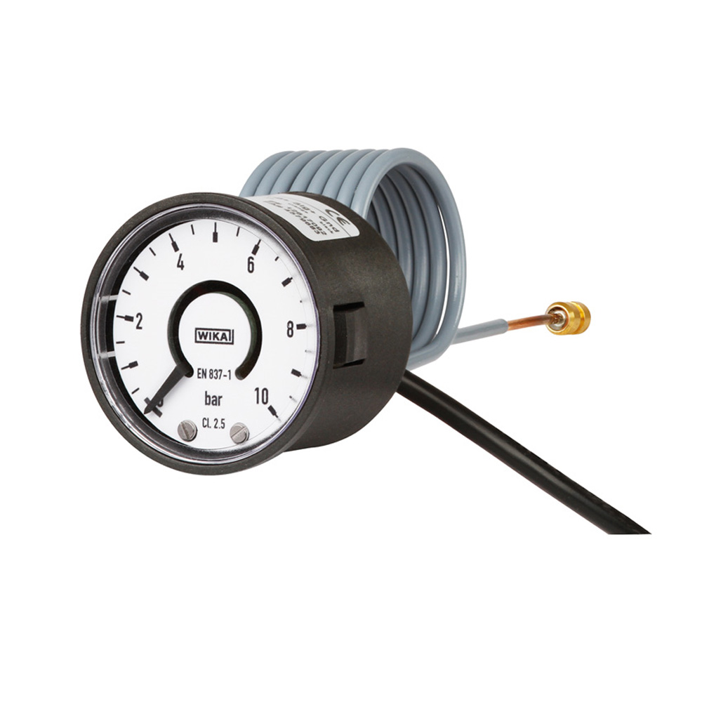 Bourdon tube pressure gauge with electrical output signal Wika