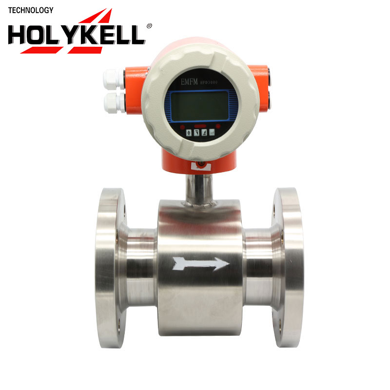 Holykell OEM 4800E cool water DN400 4-20mA electromagnetic flow meter