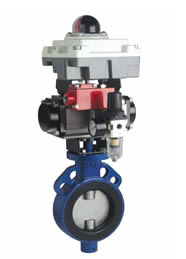 Rubber Lined Butterfly Valve Pneucon Automation