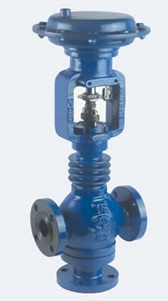 Globe 3 Way Control Valve Series-130 Pneucon Automation