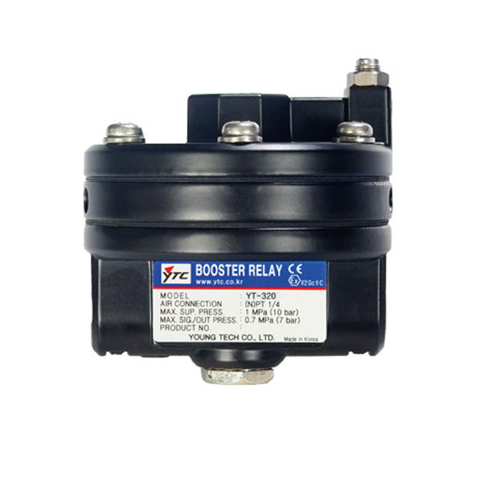 Rotork YT-320 Series Pneumatic Volume Booster Relay for Valve Positioner